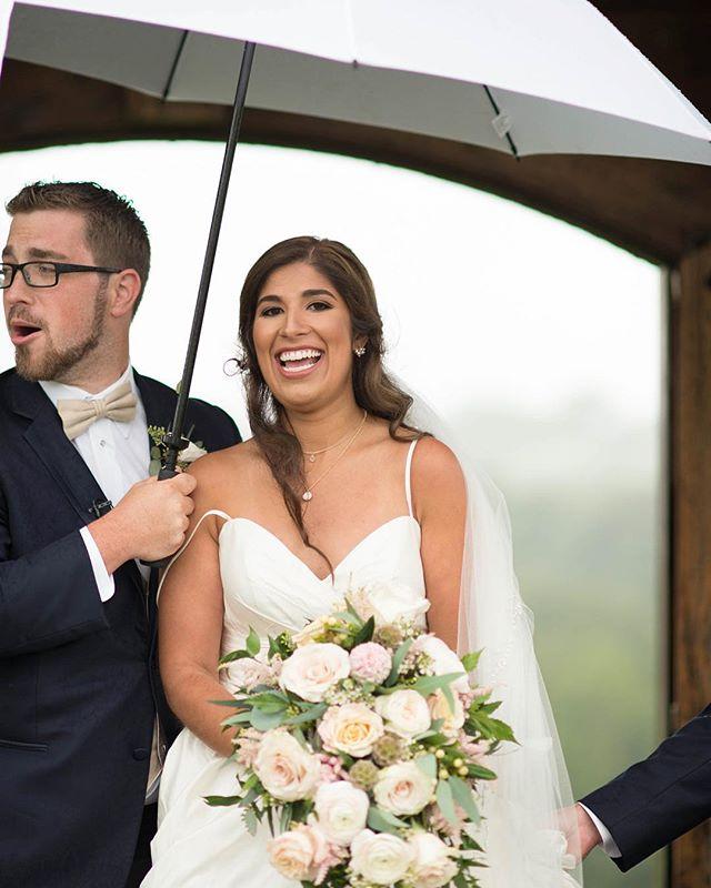 Making the best of a rainy situation! 😂😍💍👰🏻🤵🏻🧜🏽♀️🧜🏼♂️🐠 . . . . . . .  #weddingphotograph #weddinginspo #instaweddings #theknot #destinationwedding #marylandweddings #engaged💍#rainywedding #undermyumbrella #wynridgefarm #wynridgeweddings #tarjacreative #tarja #pawedding #dallastown #engaged💍 #loves #kateandmattrimony
