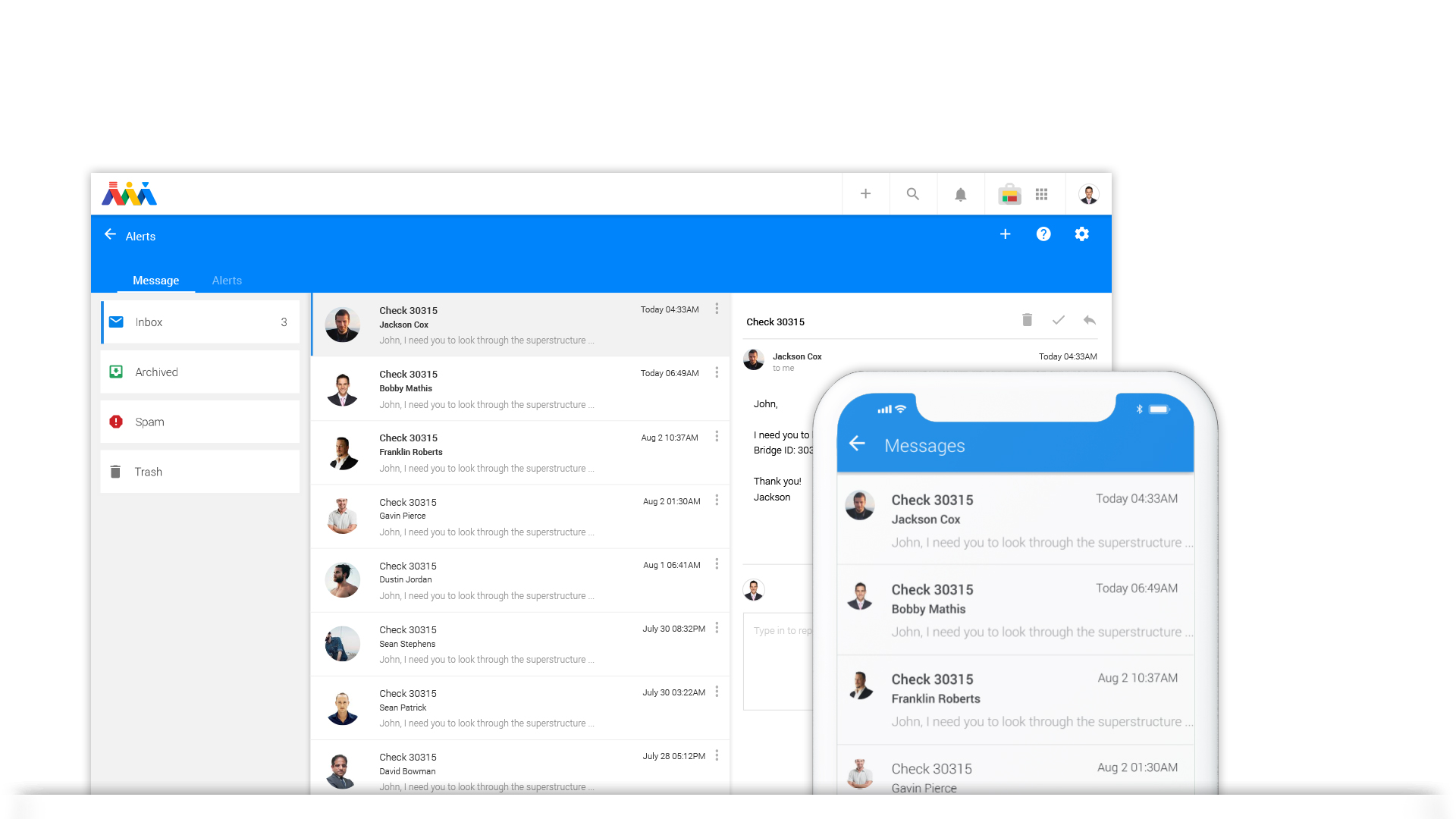 Communication - Atom allows first responders to communicate with one another and remote managers during critical situations. Atom gives users the ability to flag for help as well as identify others in need of assistance; all in real-time.