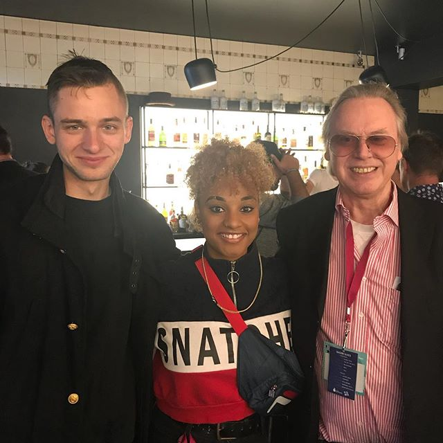 Our @reenysmith meeting up with @adrianohill and #Hille of Grand H at the @canmuspub mixer at @reeperbahn_festival ! #dreamteam