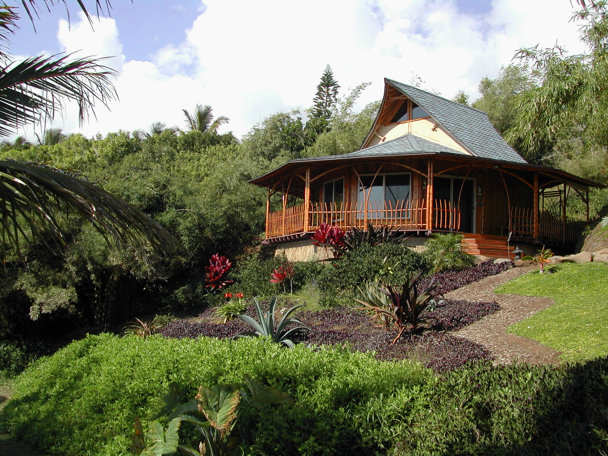 The Pacific Fijian home built for Kutira Decosterd on Maui.