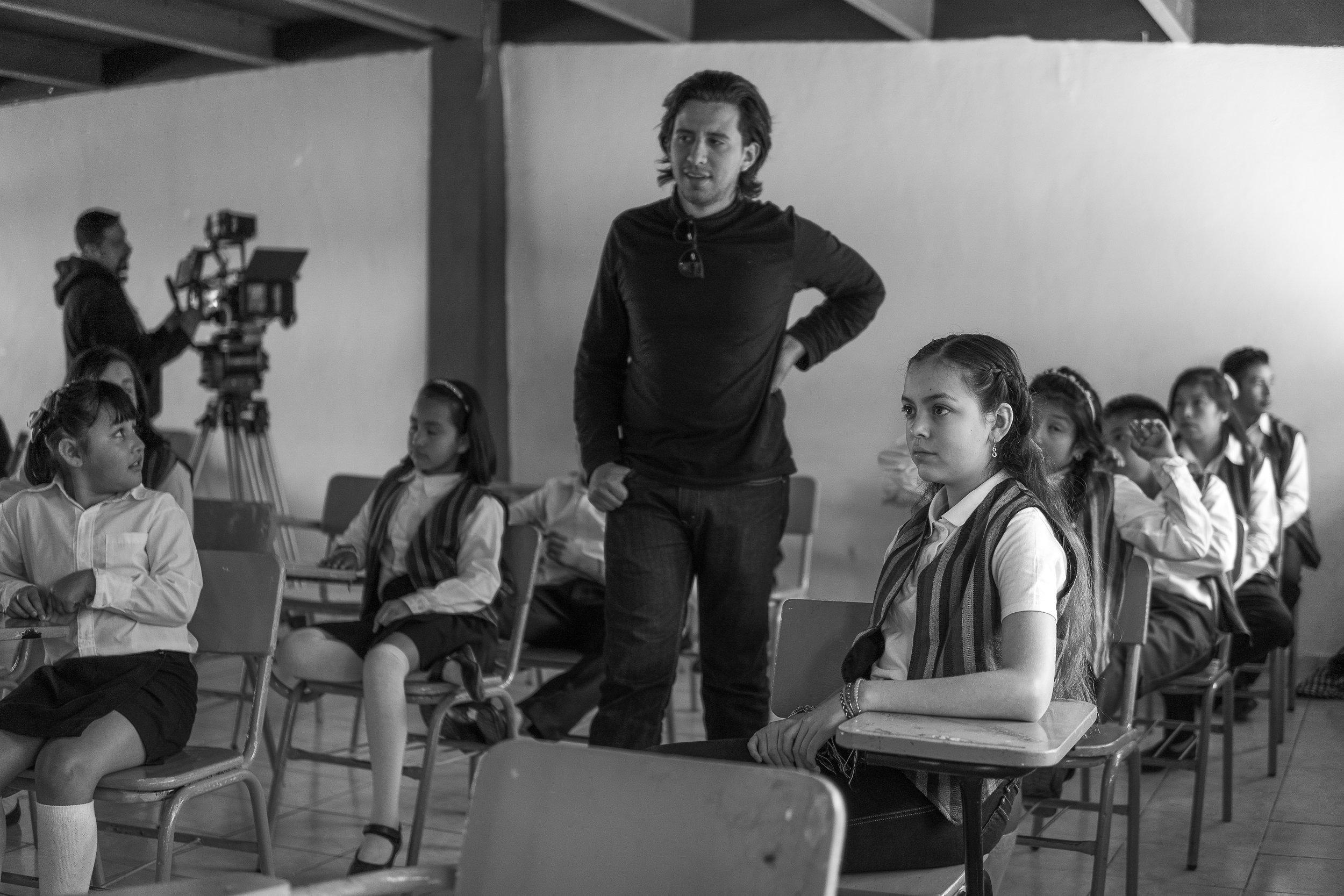 "Jorge Sistos directing on set of ""La Oscuridad"" in Mexico"