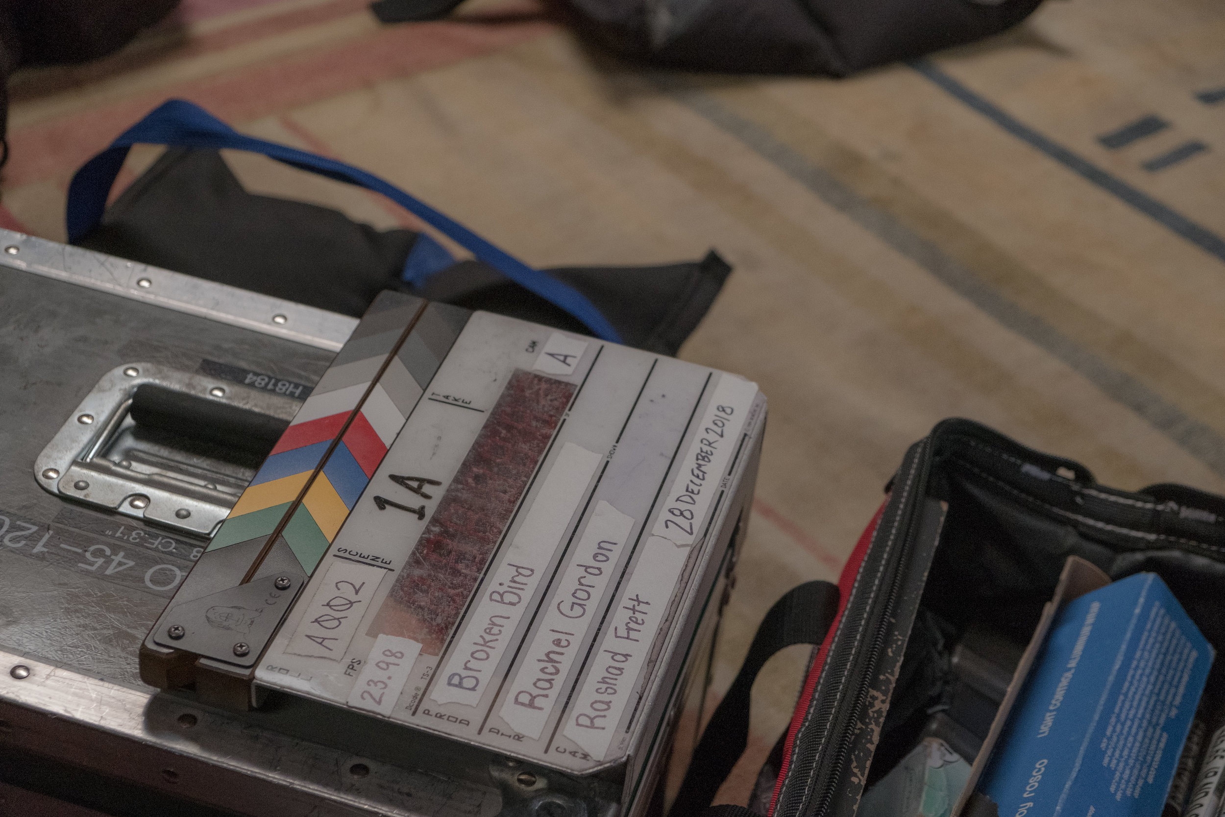 A picture of slate from Rachel Gordon's set
