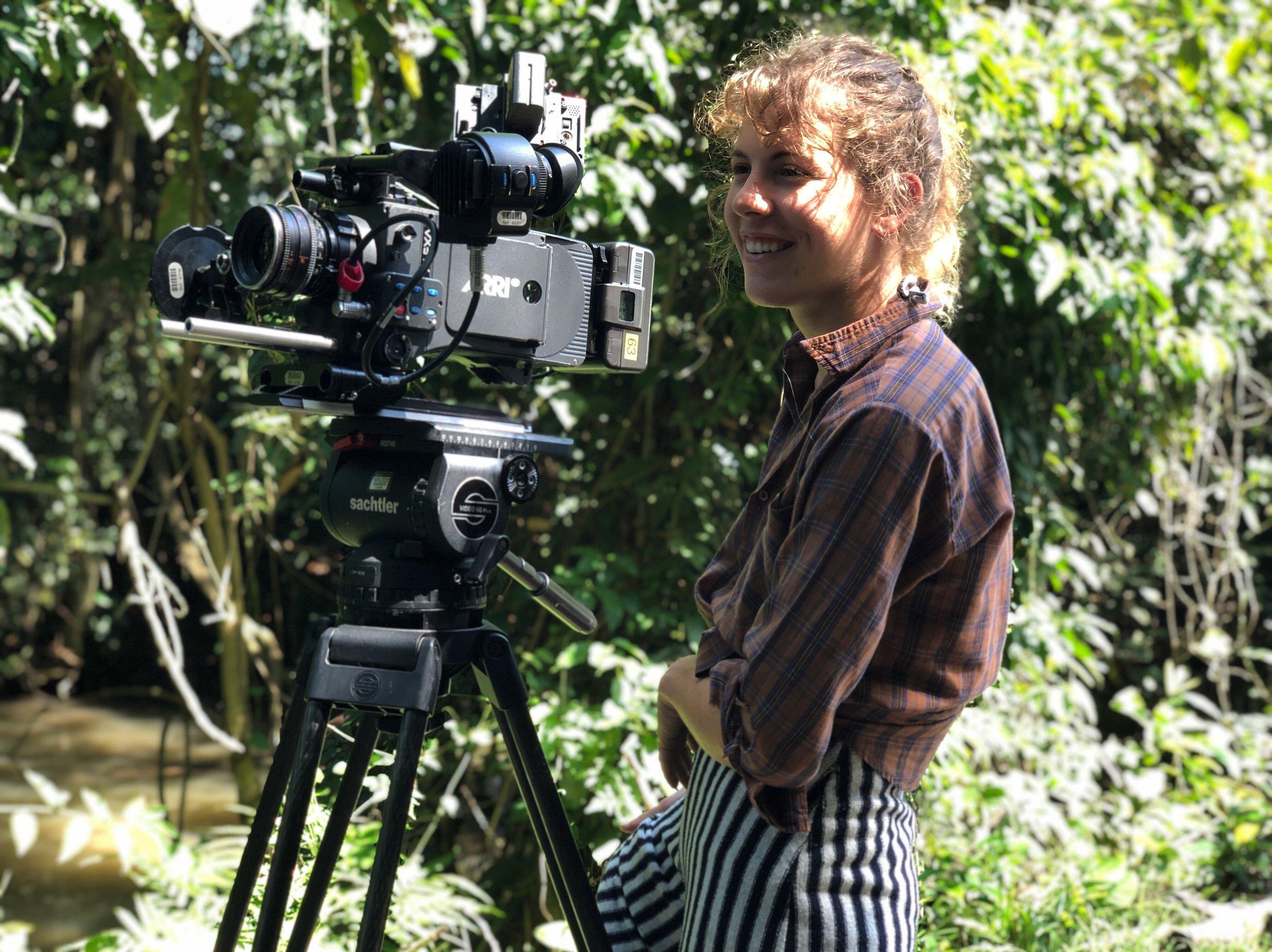 DP Gianna Badali working on Sofia Camargo's set in Colombia