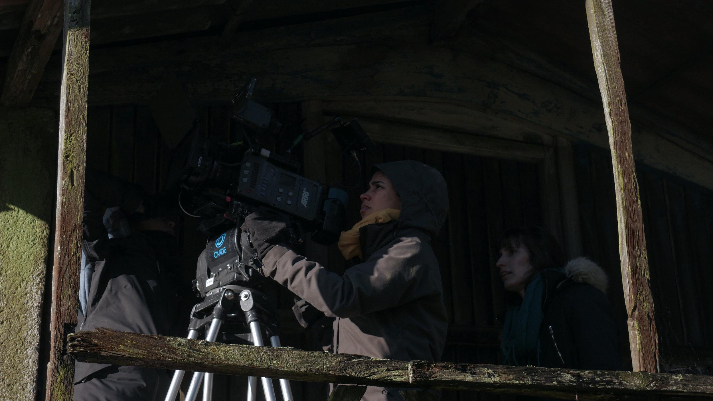 Noelia María Muíño González working with DP Lorena on set in Spain