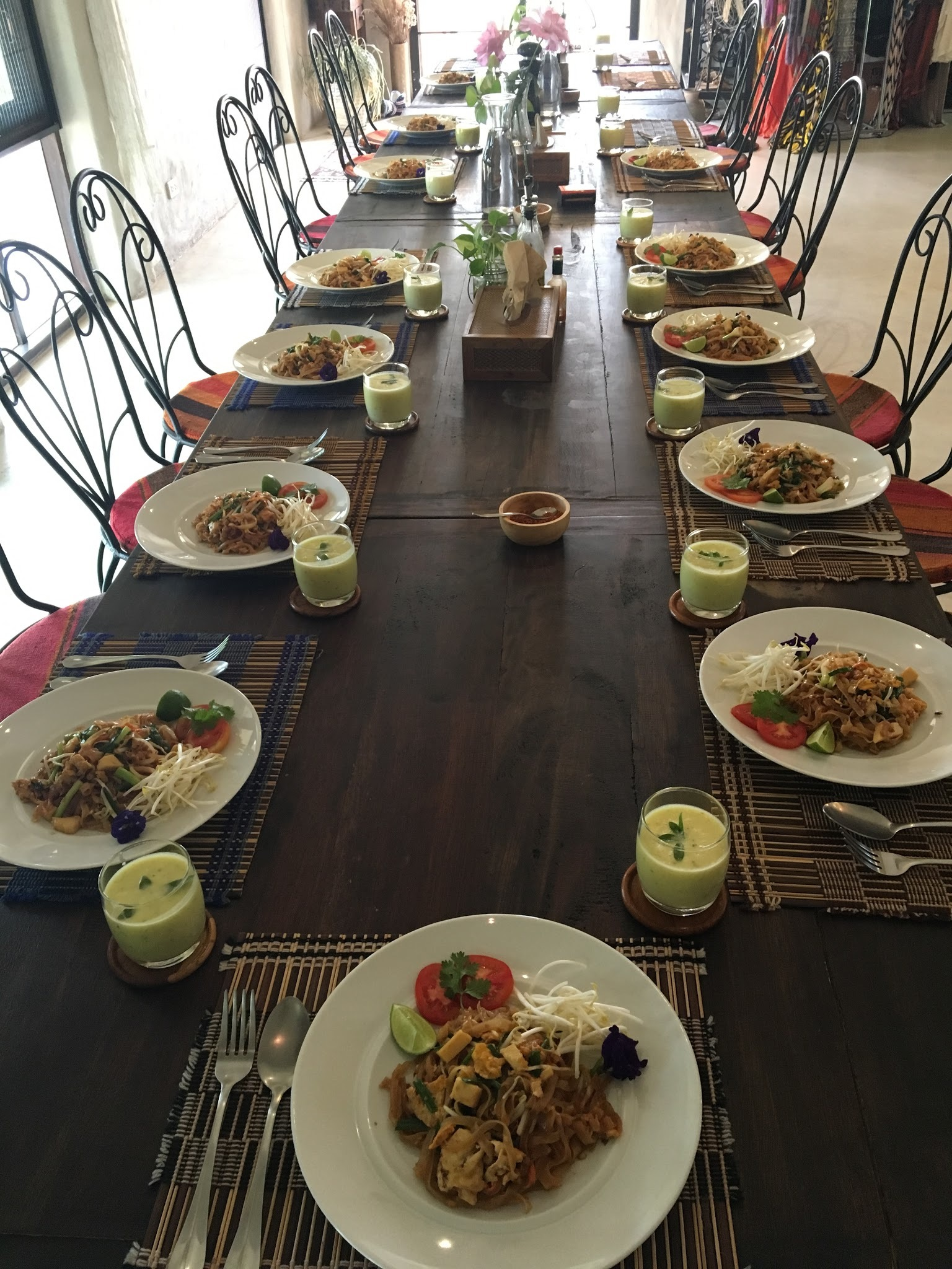 Lunch Time at Mala Dhara Chiang Mai on Yoga Retreat.JPG