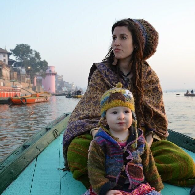 Naomi Pryde - 500hr RYT, Trauma Sensitive Yoga In 2011, I moved to Varanasi, India with my husband and 8 month old daughter to help run a space of retreat and worship devoted to Jesus. It was called the River Ashram and lay on the banks of the Ganges river. Those years of my life were some of my best, and some of my worst. Varanasi, pushes you to your limits, and it was at the end of me where I fell deeply into the arms of Christ. My time in India taught me about devotion, about a whole life, whole body experience of the spiritual. It taught me that Jesus is not the path for the mountaintop, but instead my Jesus is the one who incarnates and walks amongst us, in all the chaos, in all the mess. I know this city, I love this city, and I can't wait to show you my old stomping ground!Naomi is married to Joshua and they have two children, Elkarnah and Jasper (who was born in Kerala, South India)