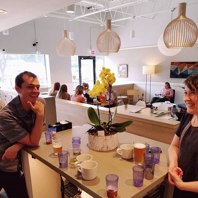 YAY! Last week David and Lily Duckler @verdanttea visited to see and taste how the exquisite teas they source are crafted into FUN & innovative tea drinks at Jinx Tea. We are so proud to have them as partners and friends. 😊 #matchmadeinheaven #organictea #sustainablyfarmed #minneapolis #goodpeopledoinggoodthings #farmerpartners #worldpartners