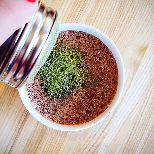 Jinx Matcha Drinking Chocolate is a beautiful thing - rich, delicious and full of antioxidants. 🤗  Made with Laoshan Green tea, Matcha & Jinx-made cacao mix. 💚 💚 💚  #goodforme #tea #matcha #minneapolis #minnesotaeats #mneats #minnesotafood #minnesotafoodie #mnfoodblogger #foodieapolis #makersofmn #eatminnesota #healthy #antioxidants #hotdrink #falliscoming