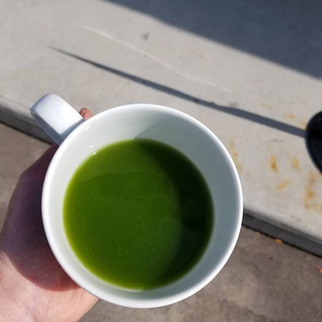 🍵 Try our new Go-Go Green hot crafted tea - an invigorating blend of matcha & Laoshan Green tea. Put some pep in your step!🏃♂️🤸♂️ #tea #matcha #lindenhills #minneapolis #jinxtea #soberseptember #organic 🌱⛰