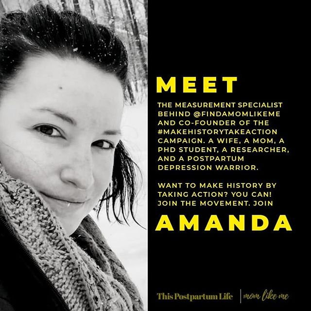 """During maternal mental health week we blasted Instagram with our demand for diagnostic criteria for postpartum mental health conditions. So many of you are new to this community as a result, and so we'd like to introduce ourselves and tell you more about WHY this is important to US. THIS IS AMANDA'S WHY.  Share your why in the comments after you fill out the survey! . . . After being diagnosed with """"general depression"""" and receiving treatment that was wildly inappropriate for a new mother, Amanda took to making a difference for the moms that will come after her.Established diagnostic criteria for postpartum mental health conditions, for Amanda, could have meant a faster more reliable response to her cry for help that could have been covered by insurance.It could have meant less guilt, less fear, less stigma, less pain.It could have changed her life."""