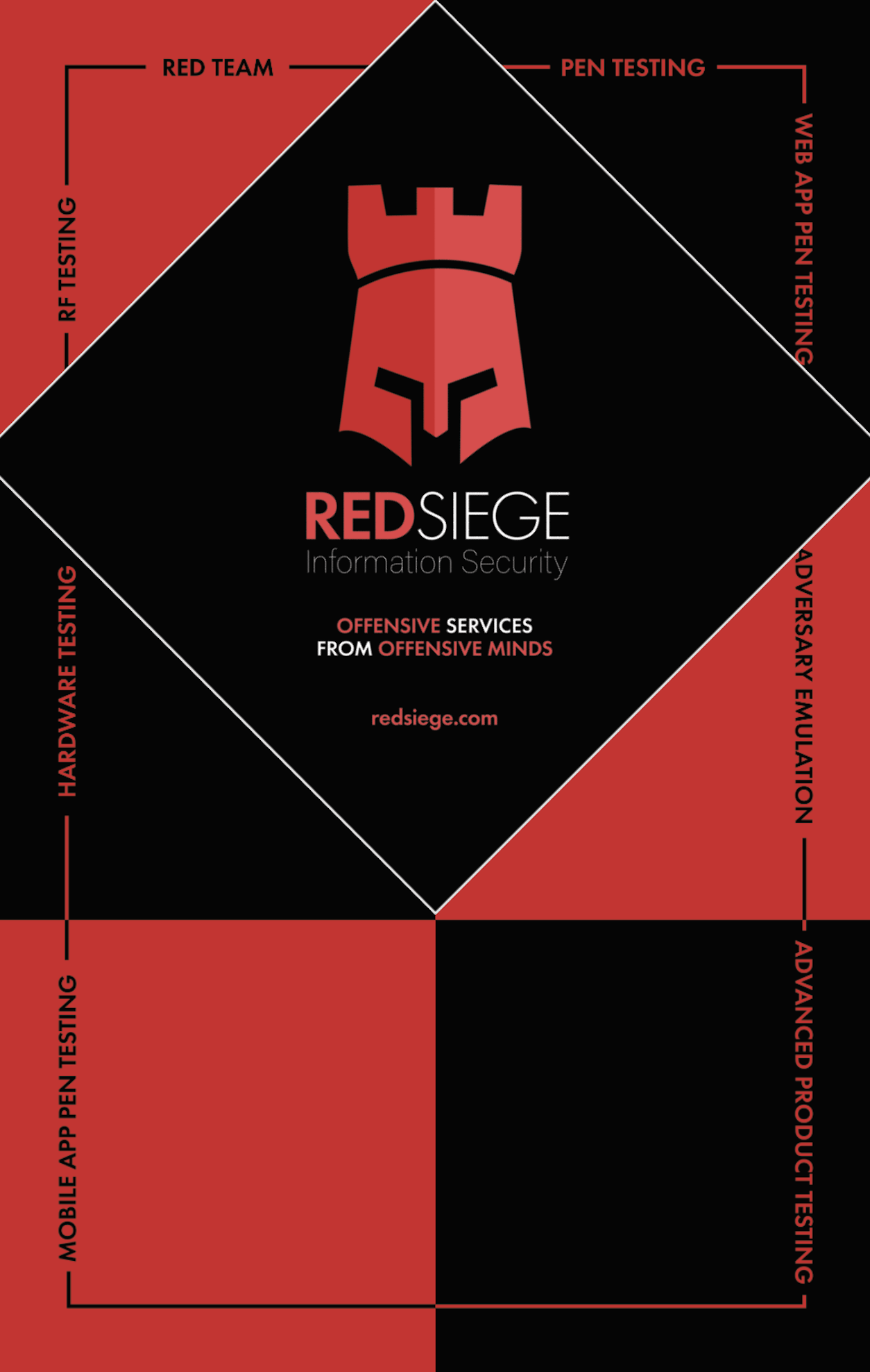 Red Siege 7' Tall Pop-Up Display