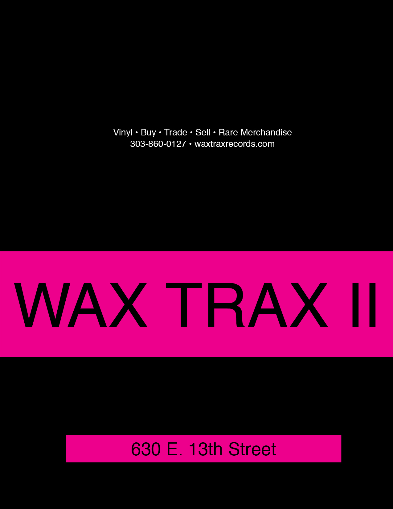 Wax Trax Records Magazine Ad Set