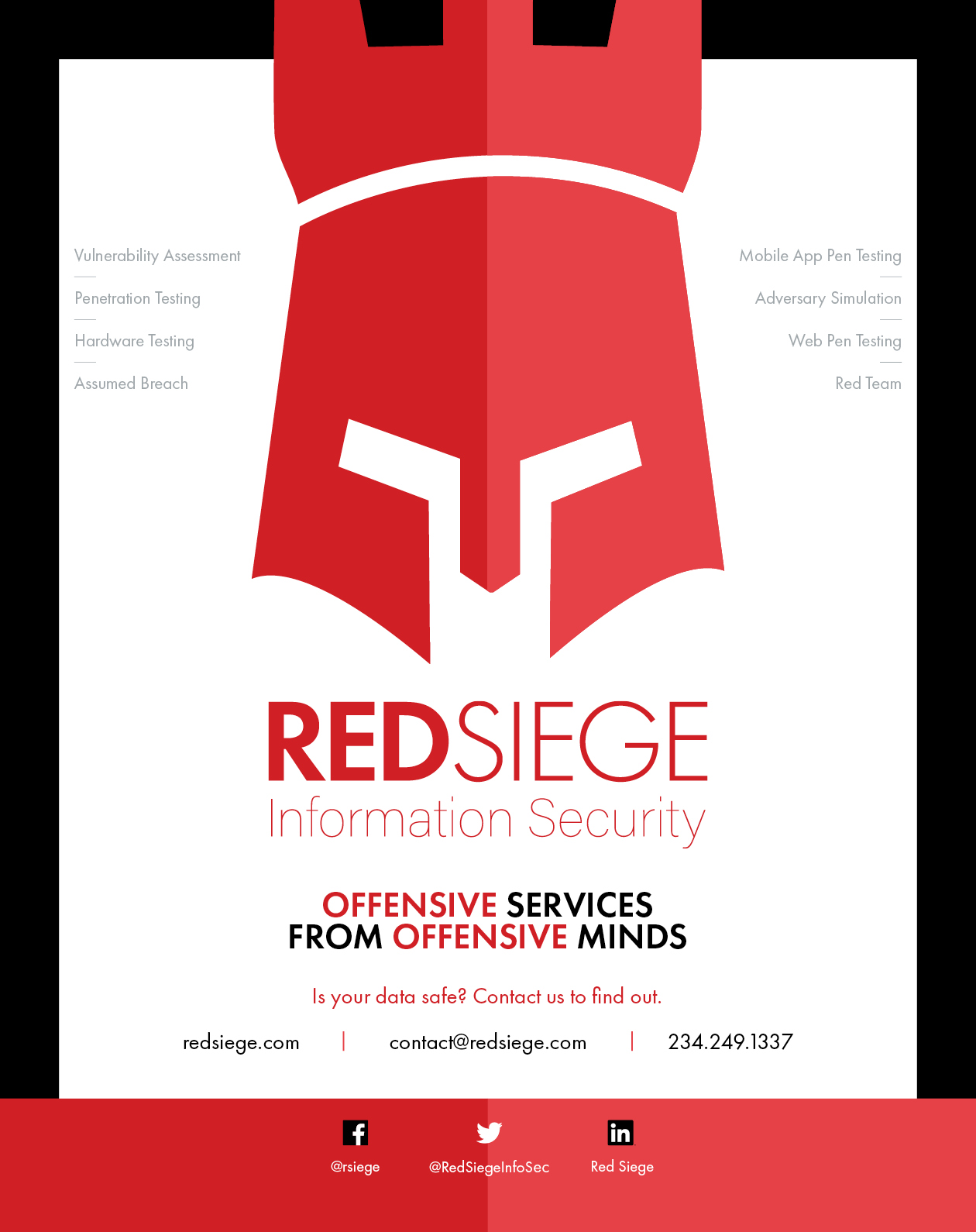 Red Siege Magazine Advertisement.