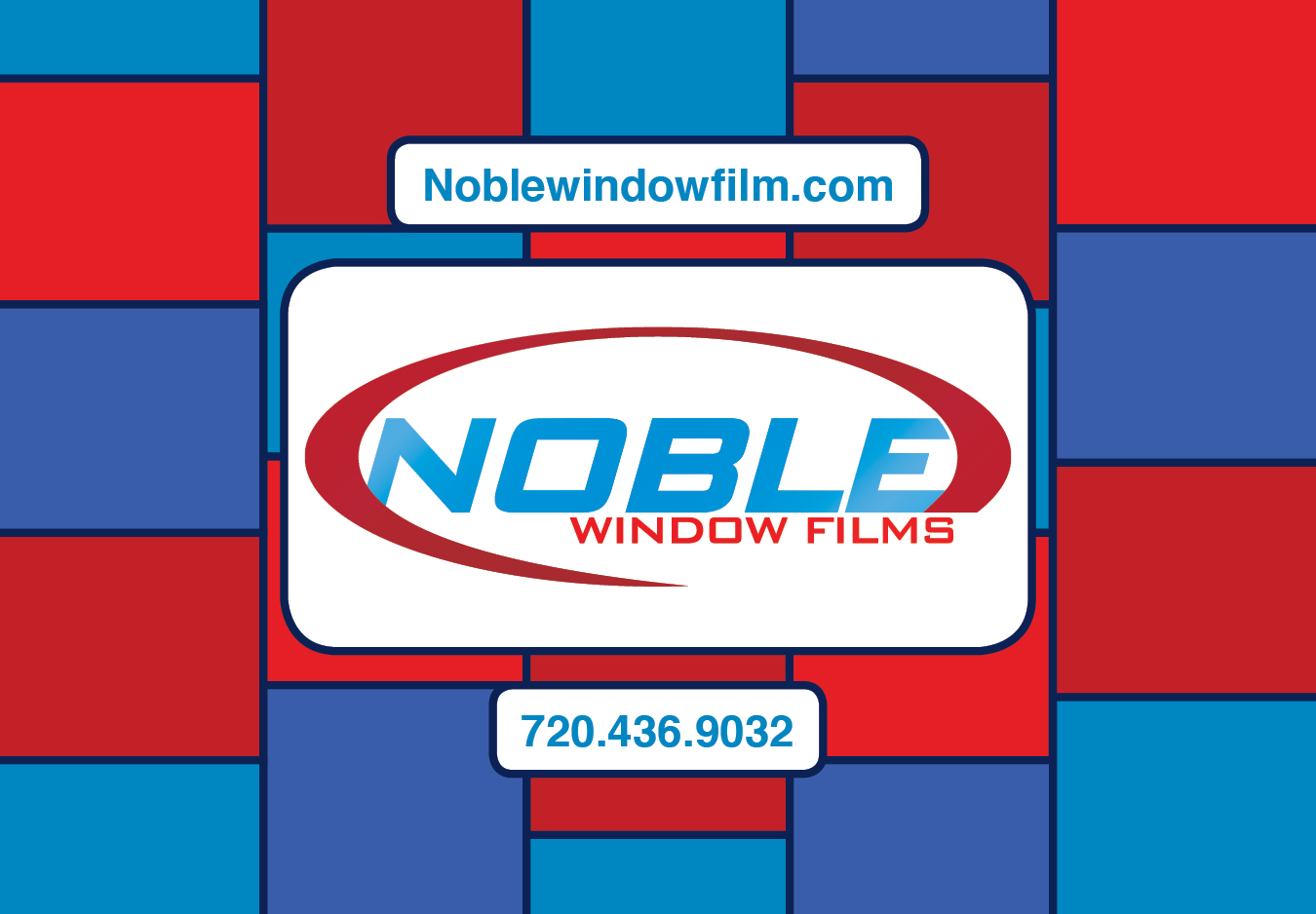 Noble Window Films mailer. Front.