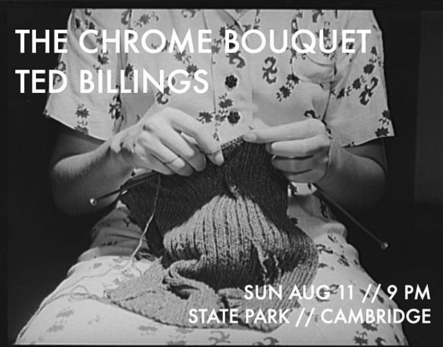 Sunday August 11 at @stateparkbar with Ted Billings.  FREE. . . . . . . . . . #tcb #thechromebouquet #tedbillings #statepark #livemusic #chickenkatsu #wurltizer #music #croonerpop #pop #fenderstratocaster #august #humidity