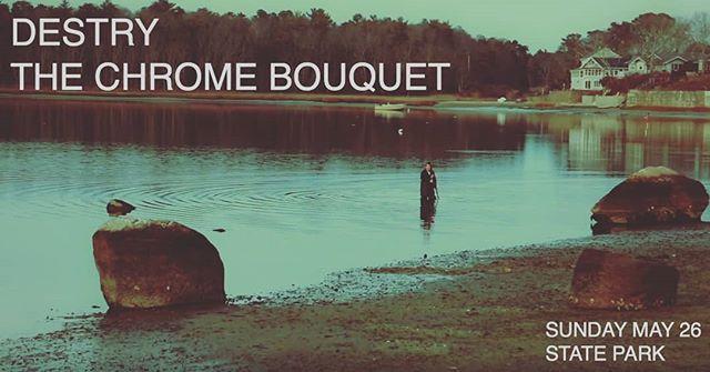 Next show is Memorial Day Weekend Sunday May 26, 9 PM.  FREE. . . . . . . . . . #tcb #thechromebouquet #destry #indiepop #statepark #memorialday #livemusic #fenderstratocaster #hammsbeer #wurltizer #croonerpop #bricklayer