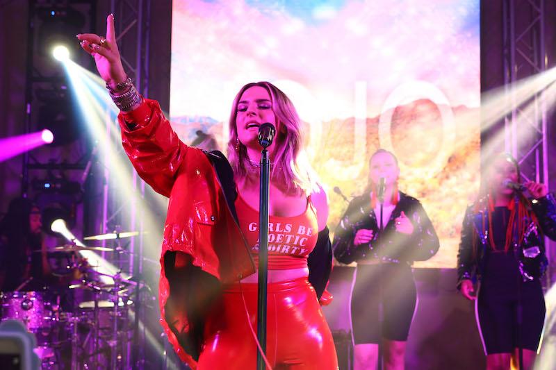 Jojo performs at Nylon's Coachella party