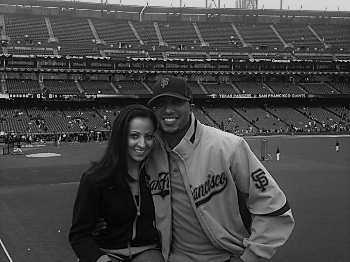 Wife and me at 2010 WS BW.jpg