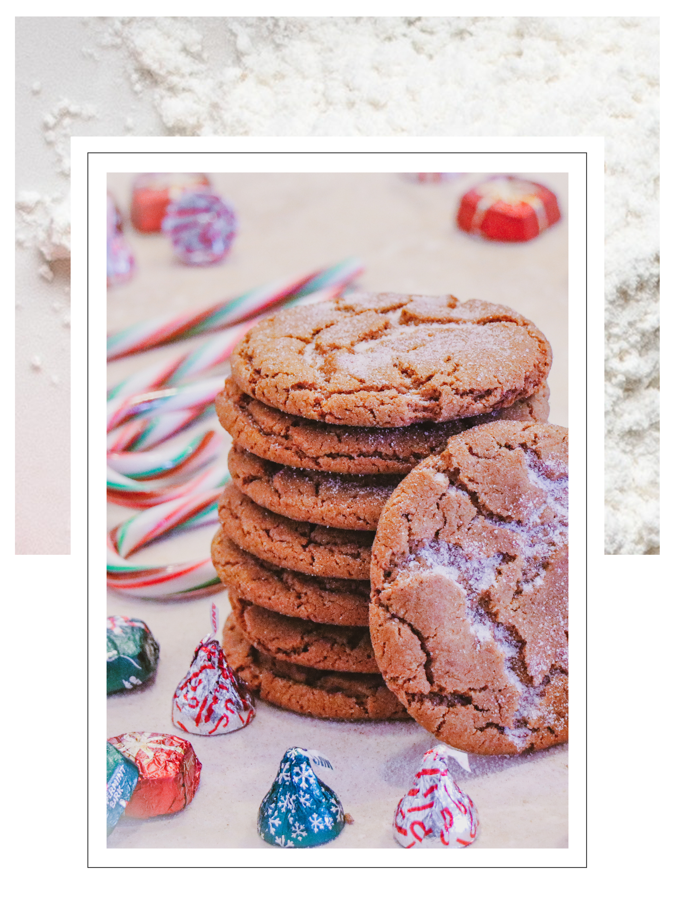 CHEWY GINGER MOLASSES COOKIES - I'm so excited to be blogging about food again. This recipe has always been one of my faves, but it's extra special to me now because it's the first recipe I ever made with my daughter Jemma.