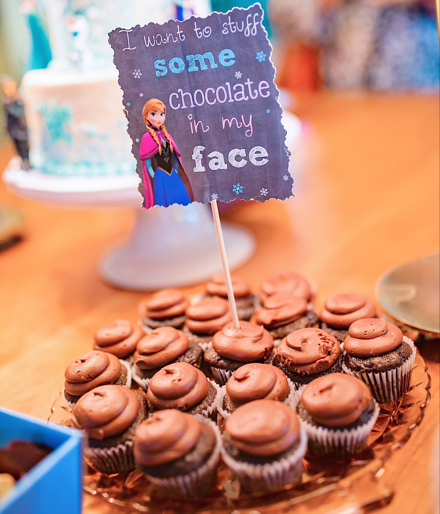 i want to stuff some chocolate in my face frozen birthday