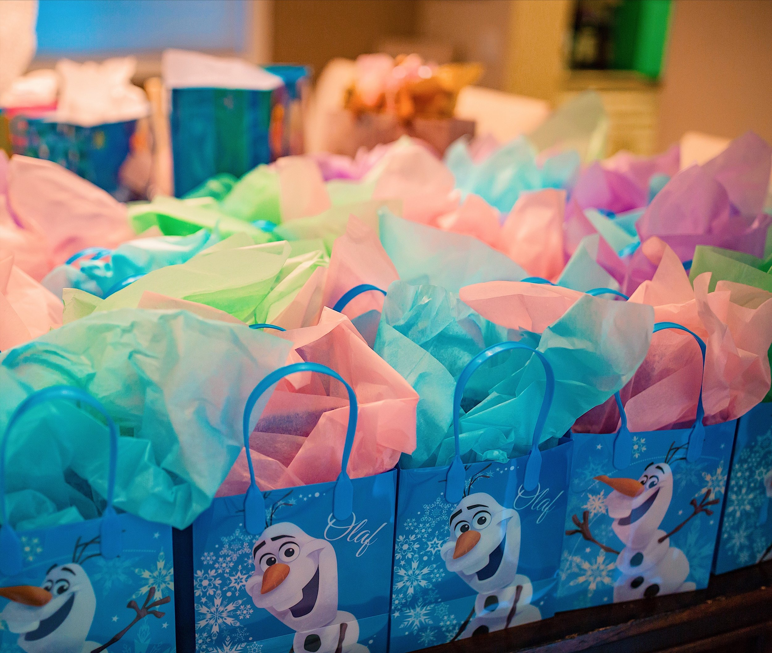 olaf party bags frozen birthday party