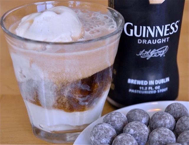 guinness ice cream float st patrick's day