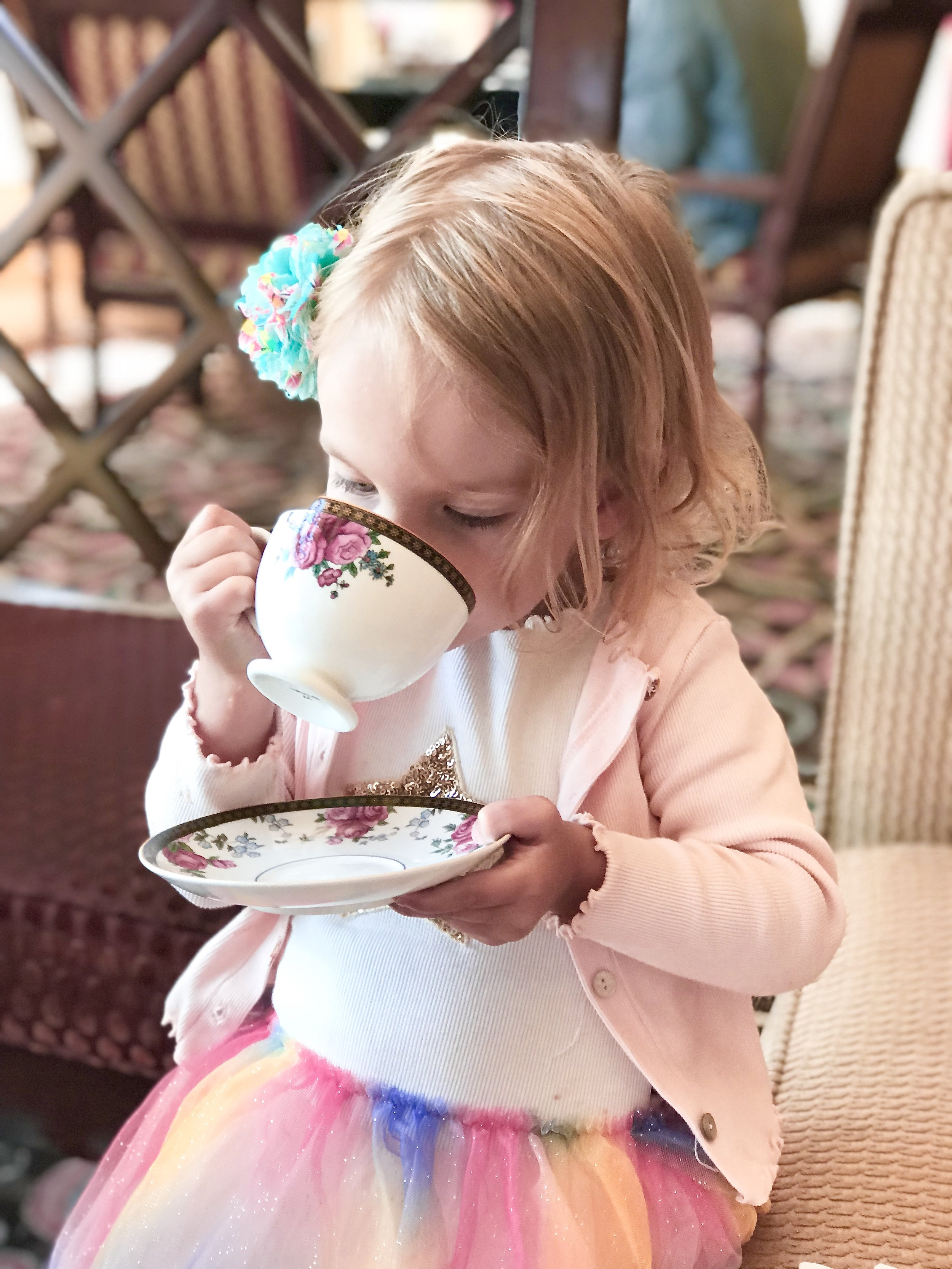 "Fancy tea - What to do with a toddler on Spring Break? ""Afternoon Tea"" probably isn't on any top ten lists... but it should be!"