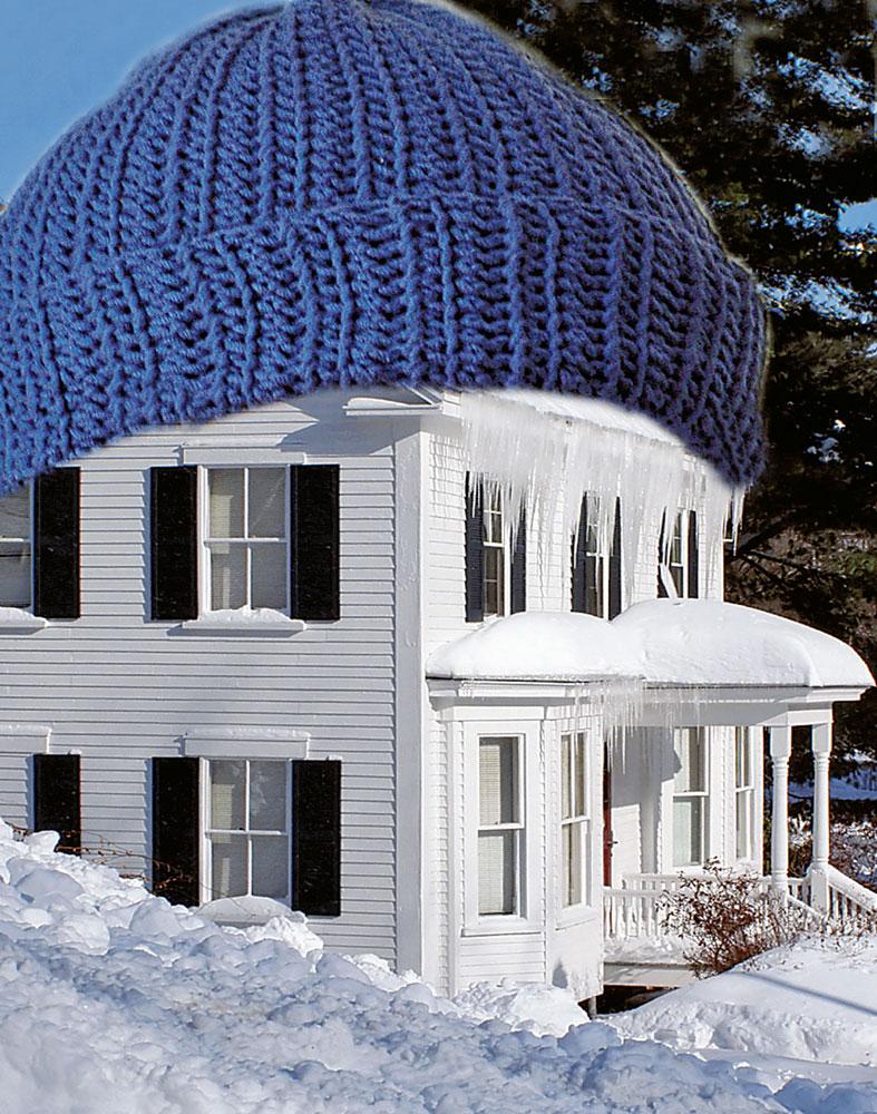 Cirka 15 procent av värmen i ett svenskt genomsnittshus försvinner ut genom taket.