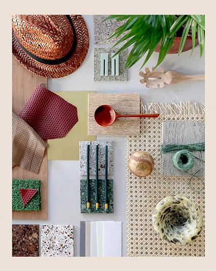 AFRICA ACTIVISM - Vi reser mer och mer, och tar med oss inspiration därifrån. Vi ser en variant av kolonial design och estetik med mörka träslag. De palmliknande träden är kvar tillsammans med inslag av rå natur. Betong, sten, bränd keramik och rep. I mönsterbilden ser vi symmetriska mönster inspirerade av etniska detaljer. Det är patinerat och broderat. Vi äter indisk streetfood. Aktivismen visar sig på så att vi stödjer varumärken som tar ställning, och vi fascineras av starka kvinnor som representerar etnisk mångfald.