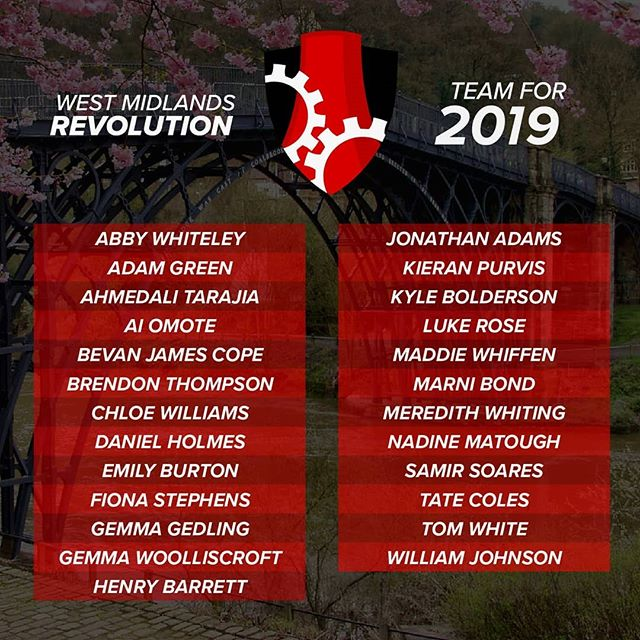 Here they are, rosters for the West Midlands Revolution, Eastern Mermaids, East Midlands Archers and the Welsh Dragons for the QPL 2019 season! . . . . . #quidditch #qpl #quidditchpremierleague #revolution #mermaids #archers #dragons #westmidlands #eastern #eastmidlands #wales #lgbt #rosters #2019 #central #england #instagood