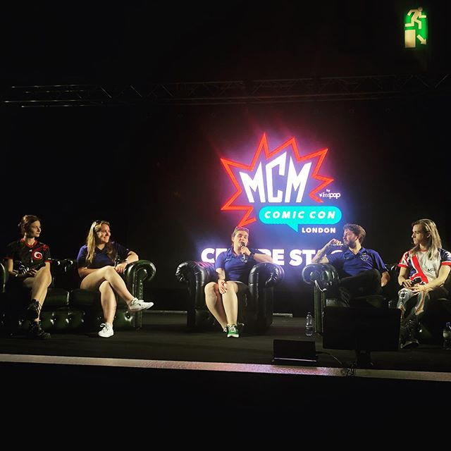 We had a fantastic time today presenting our Gender In Quidditch panel at @mcmcomiccon in London! Thanks to all who took part and those who came to listen!  We're back again on Sunday to present a panel on Youth Quidditch - see you then!  #quidditch #mcmcomiccon #gender #sport #LGBTQ