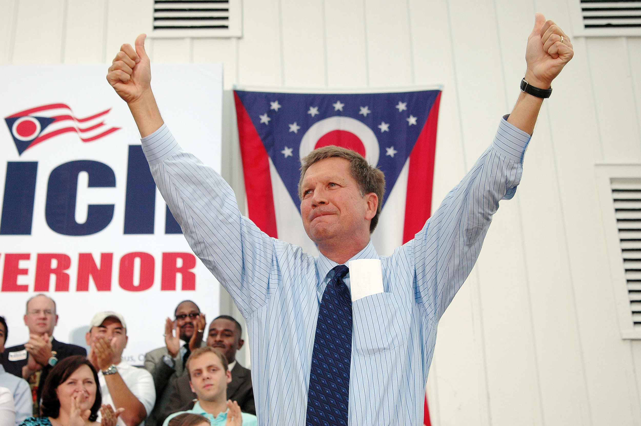 John Kasich was elected Governor of Ohio in 2010, running on a platform to restore the state's fiscal stability, cut taxes to spur growth and reform government. The result? 550,000+ new private-sector jobs, a $2.7 billion state budget surplus and new reforms to help the state's most vulnerable citizens.
