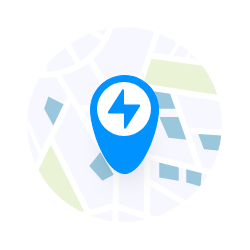 Locate stations - Use the in-app map to locate nearby charging stations.