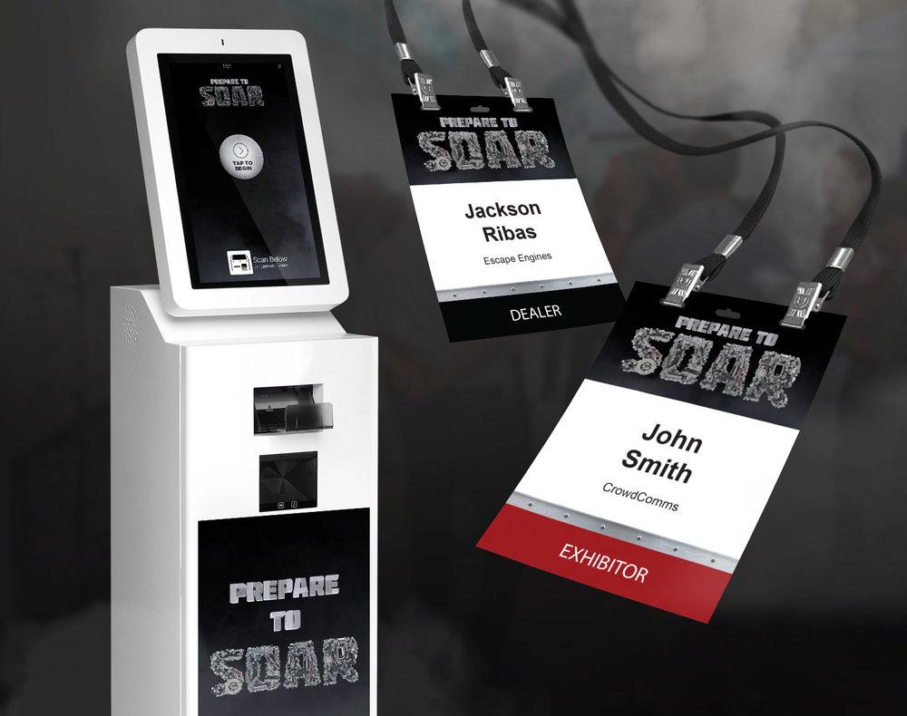 cnh design name badge printing kiosk
