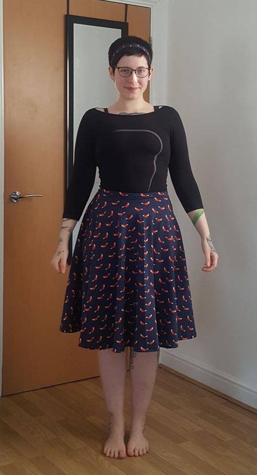 First circle skirt