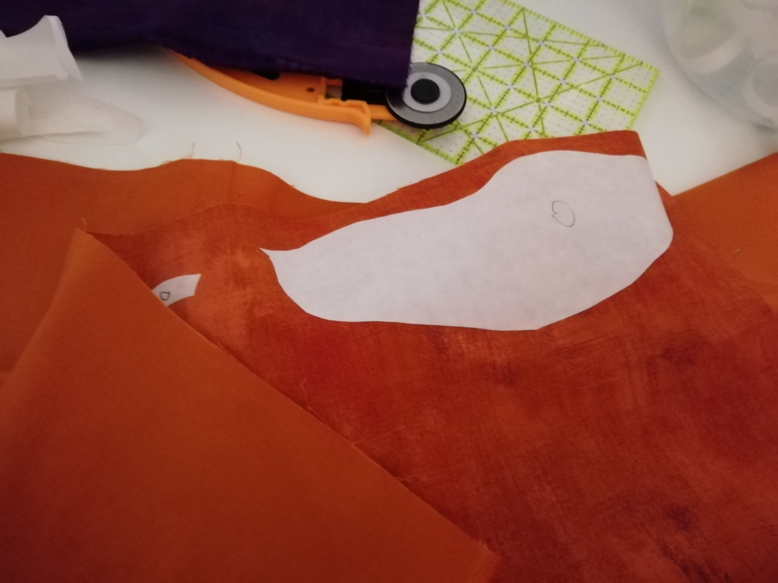 Always double-check which side of the fabric you're interfacing!
