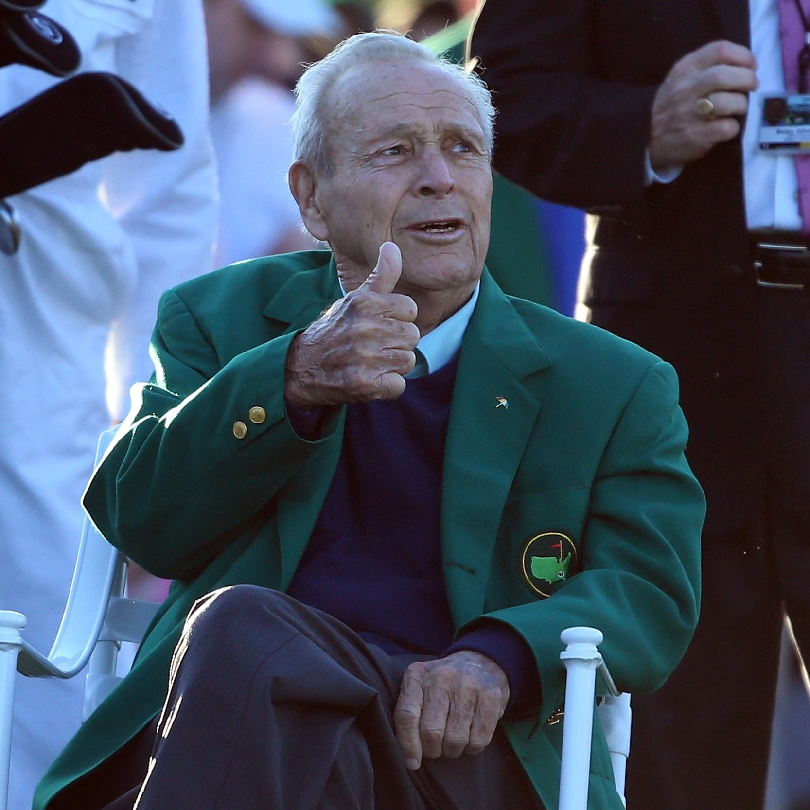 Arnold Palmer   The late Arnold Palmer, The King, was a special guest feature on a golf special that we produced.
