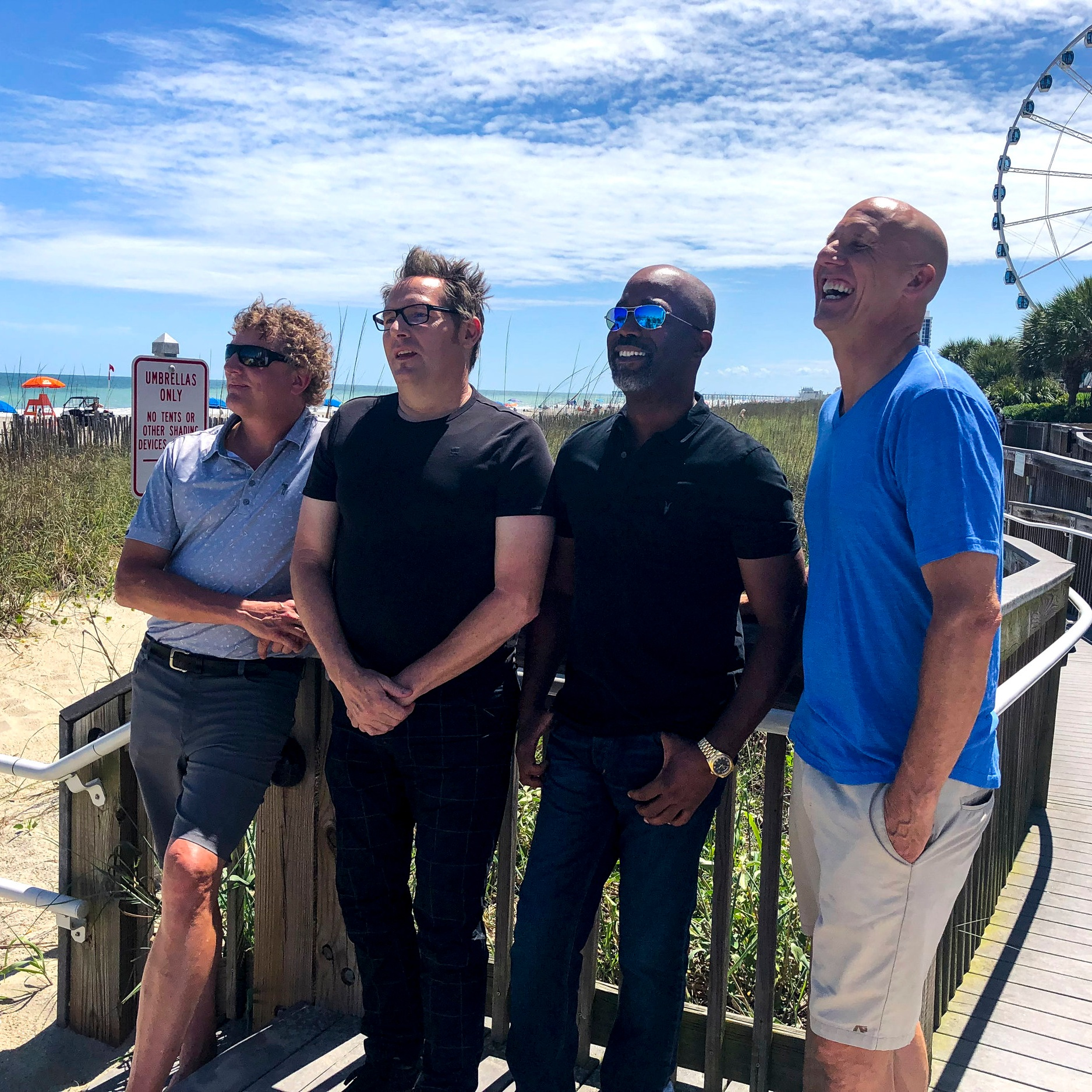 Hootie & The Blowfish   We teamed up with Myrtle Beach Golf Solutions to create promotional material for the bands upcoming Group Therapy Tour.