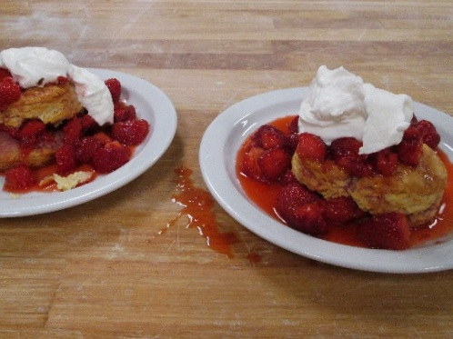 Oh WOW Frozen Biscuits with Michigan Strawberries (and Whipped Cream)