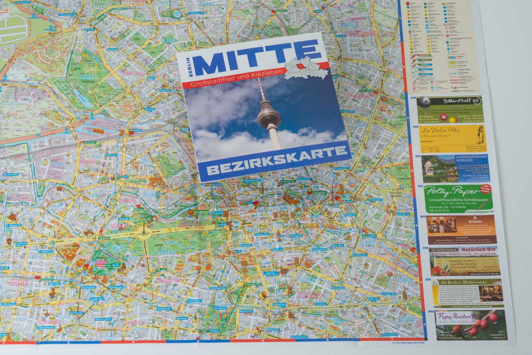 Bezirkskarte - Außerordentlich beliebt bei unserer Leserschaft sind die jeder Bezirksbroschüre beiliegenden Bezirkskarten. Auch hier besteht die Möglichkeit eine Anzeige zu platzieren.