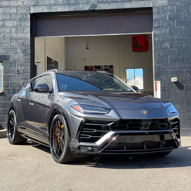 @savagegarage came by Q in their modded Lamborghini Urus to get a @ceramicpro Sport Package. Wow is this thing mean... and those @anrkywheels 🤤🤤🤤
