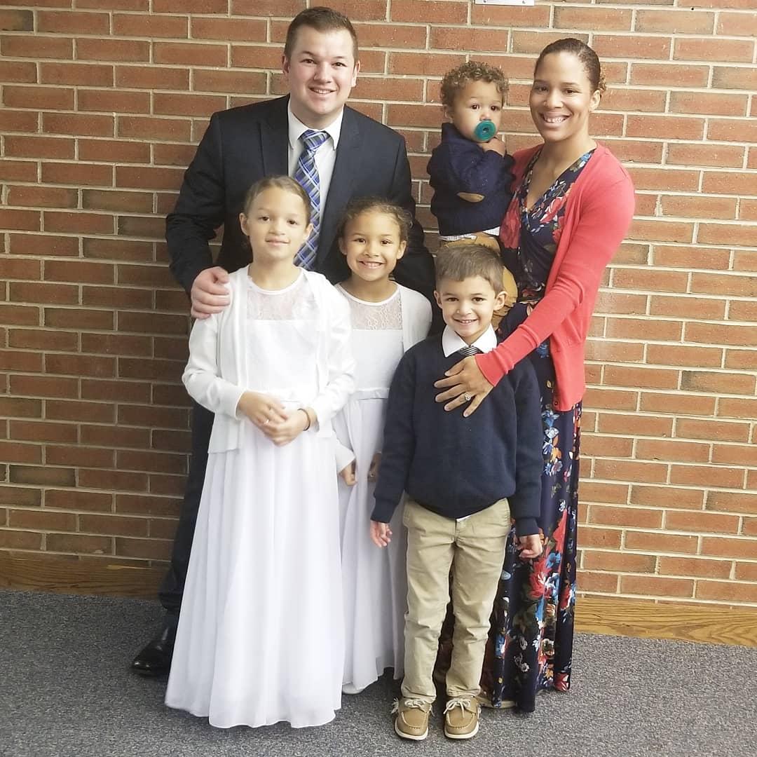 Jori, her husband and children