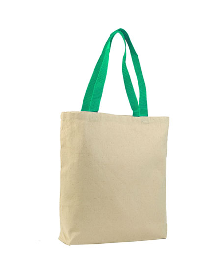 Q-Tees Canvas Tote Colored Handle.JPG