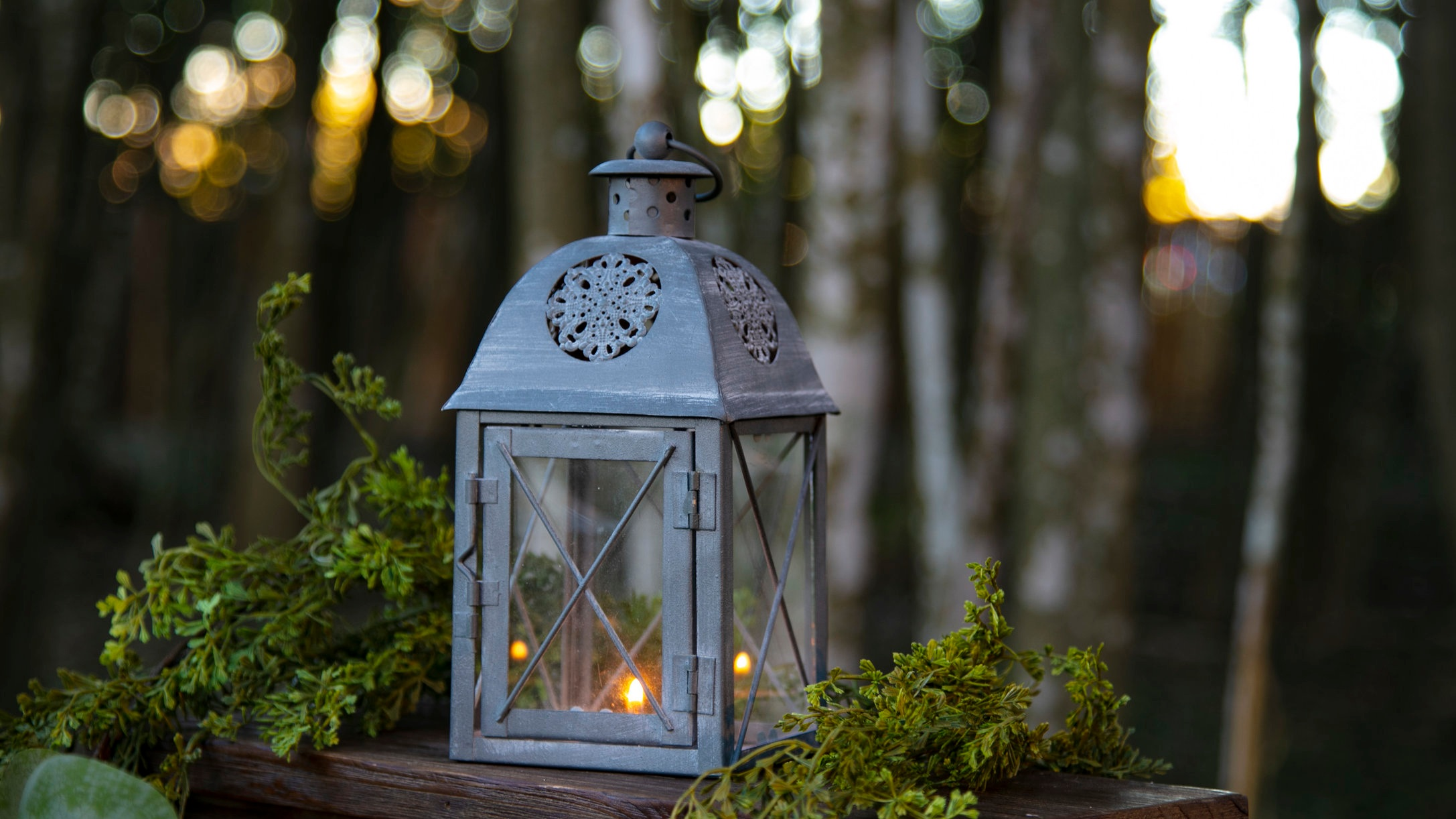Gray Small Metal Lanterns  Qty: 4  Price: $7.50 each / $20.00 for all 4