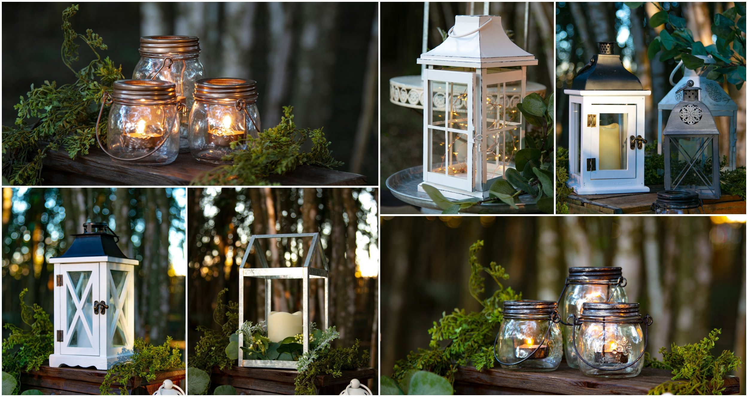 Illumination Rental Package  Includes: All Lanterns, LED Candles and Fairy Lights   Cost: $299.00