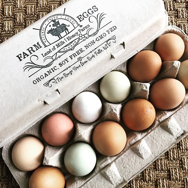 These pretty pastured eggs are nutritionally packed with vitamins such as: Fatty acids & carotenoids Vitamins A, D, E & K Protein Iron Vitamins B6 & B12 Zinc, Copper, Thiamin, Folate, Folic Acid, as well as Calcium, Choline, Lecithin, Phosphorus, Selenium & Magnesium. . . Because they're pasture raised they also have higher levels of Omega-3 and DHA. There's also plenty of healthy cholesterol and phospholipids. . . You know, if you're into that sort of thing. 😉 . . Shoot me a DM if you'd like to get a dozen to try 👍🏻 . . #grassfarmer #regenerativefarming #riverfallswi #hudsonwi #incredibleedible #pasturedeggs #pastureraised #freerangeeggs #eggies #eggstra #eggstraordinary #eggchickens #rainboweggs #eattherainbow🌈 #blueeggs #greeneggs #browneggs #orangeyolks #lomah