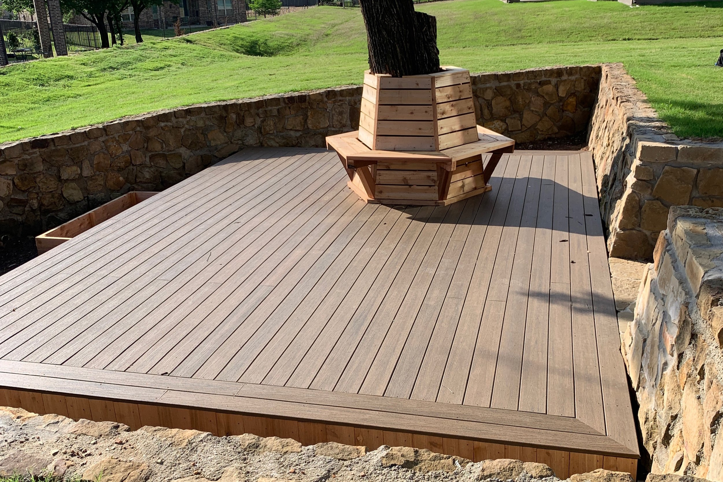 Deck completed - ready for landscaping