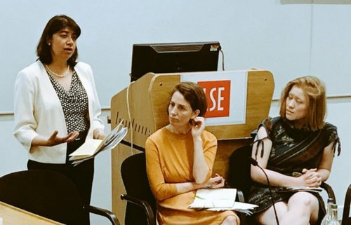 Seema Malhotra MP,  President of the  Fabian Women's Network ,  Kate Bell , Head of Economic and Social affairs department, TUC ,  Jade Leung , DPhil, Governance of Artificial Intelligence,  Future of Humanity