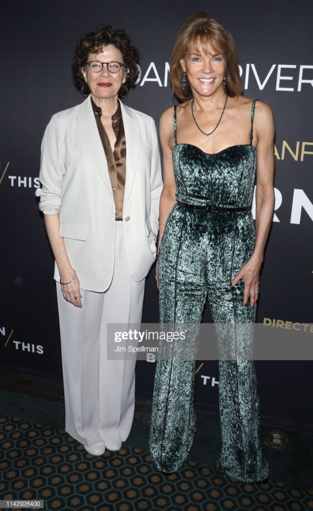 Carolyn McCormick with Annette Bening at BURN THIS premiere