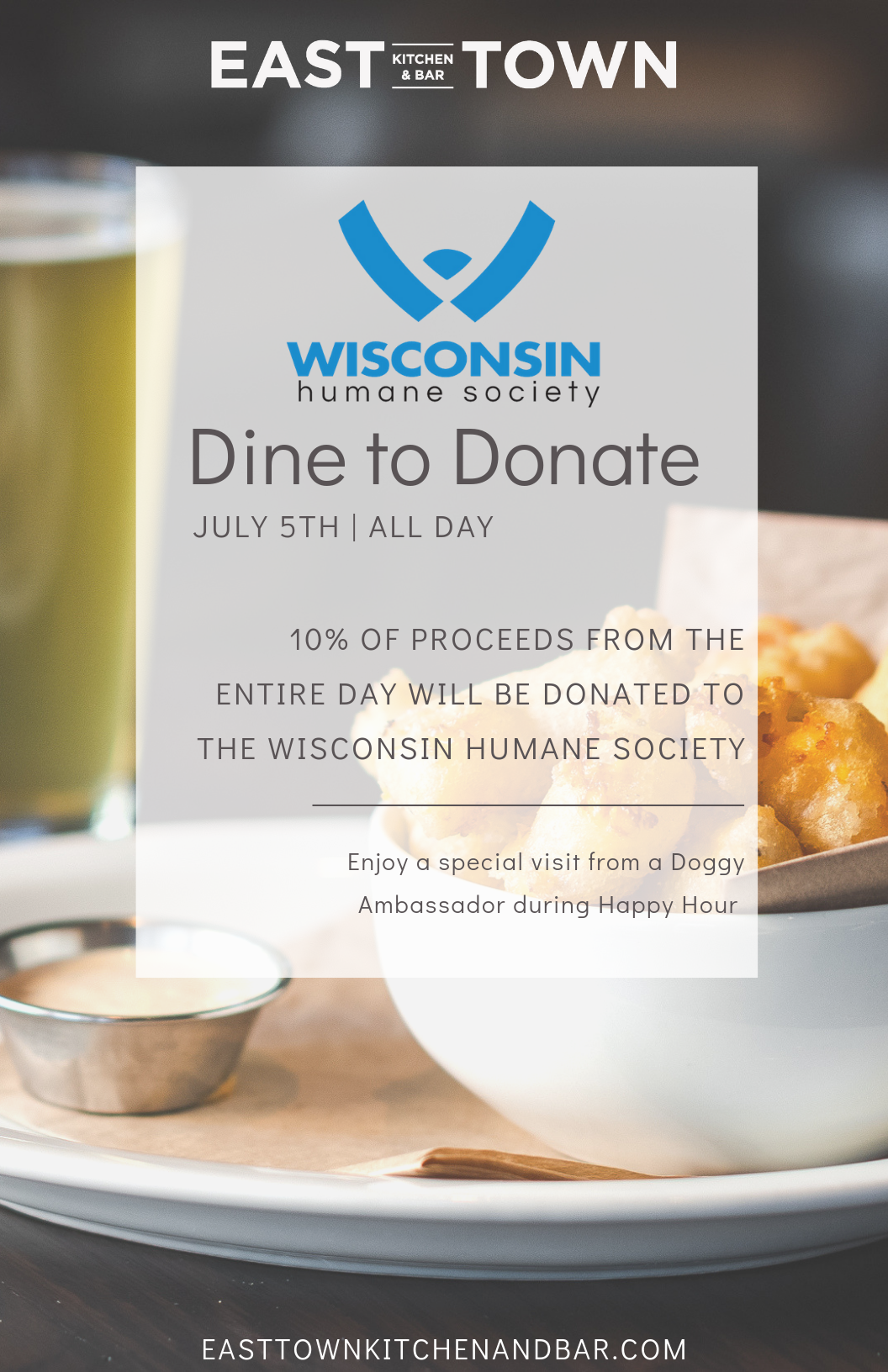 Wisconsin Humane Society Charity Dine-In